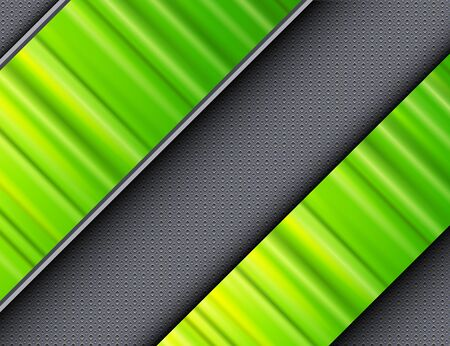 interesting: Abstract background green banners over interesting vector texture.