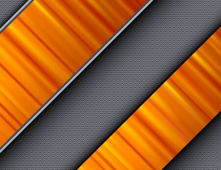 interesting: Abstract background orange banners over interesting vector texture. Illustration