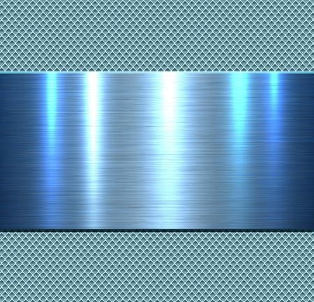 Background, polished metal texture, vector. Stock Illustratie