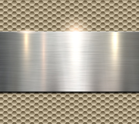 Background, polished metal texture, vector.  イラスト・ベクター素材