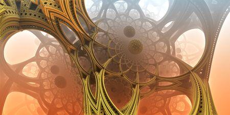 fantastic: Abstract background, fantastic 3D  structures, fractal design.
