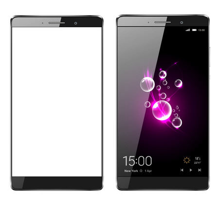 Smartphone, mobiele telefoon geïsoleerd, realistische vectorillustratie. Stock Illustratie