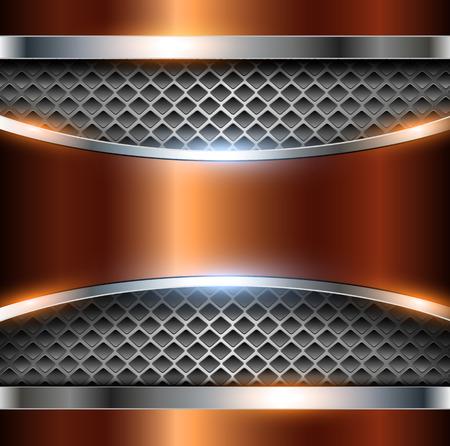 metallic: Elegant metallic background.
