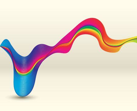 abstract smoke: Abstract background colorful waves, illustration