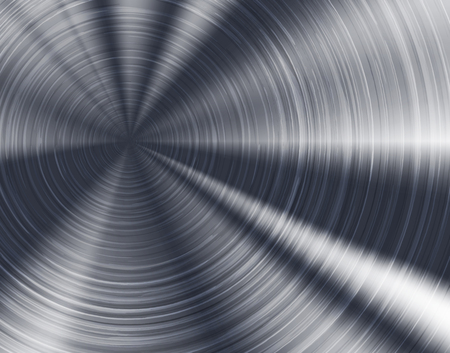 brushed aluminum: Brushed metal texture, circular metallic plate.