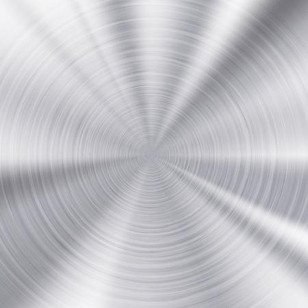 Gebürstetes Metall Textur, runde Metallplatte.
