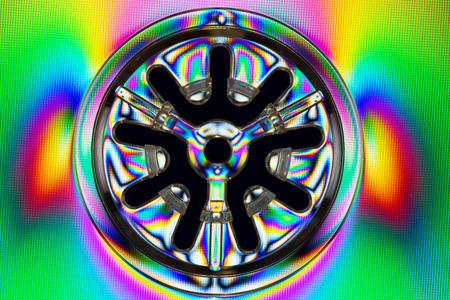 polarization: Abstract colorful light effects, polarized rainbow lights.