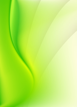 spring green: Green abstract background with smooth lines Illustration