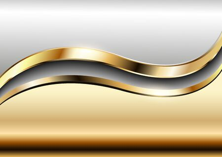 metallic: Background golden metallic vector design. Illustration