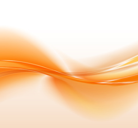 Abstract orange background, futuristic wavy vector illustration