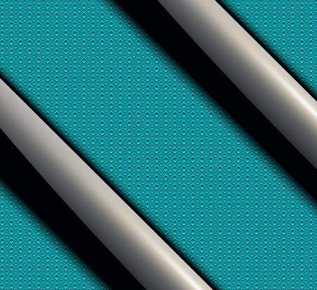 shiny black: Background with shiny black banners over green seamless vector texture.