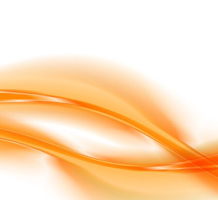 wave abstract: Abstract orange background, futuristic wavy vector illustration