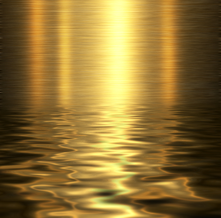 liquid gold: Liquid metal texture, metallic background. Stock Photo