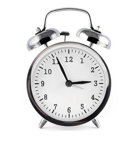 alarm clock, isolated on white background. Banque d'images