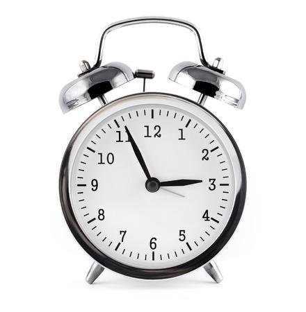 alarm clock, isolated on white background. Standard-Bild