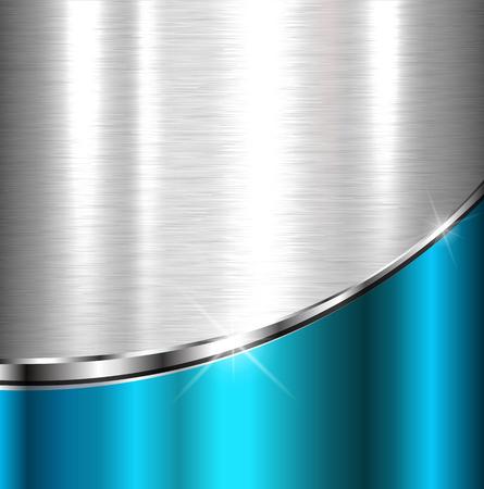 Elegante metallic achtergrond, vector design. Vector Illustratie