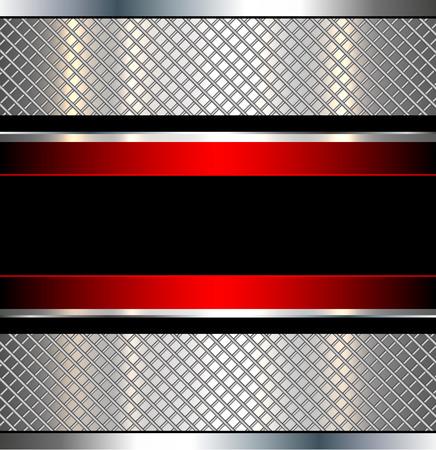 grid background: Background metallic red with metal grid, vector illustration. Illustration