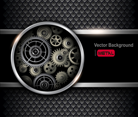 clockworks: Background 3D with technology gears, vector illustration.