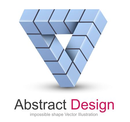 shape triangle: Logo 3D design, impossible object.