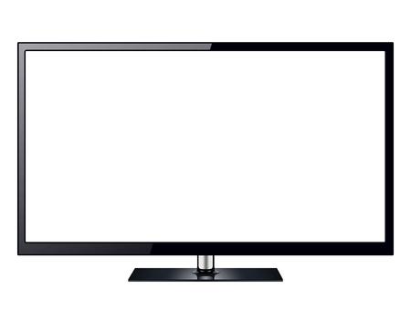 TV, télévision moderne isolé avec un écran blanc. Vecteurs