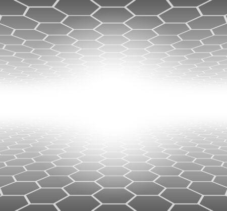 Abstract 3D Background hexagons grey pattern 版權商用圖片 - 56937582