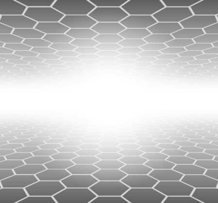 Abstract 3D Background hexagons grey pattern