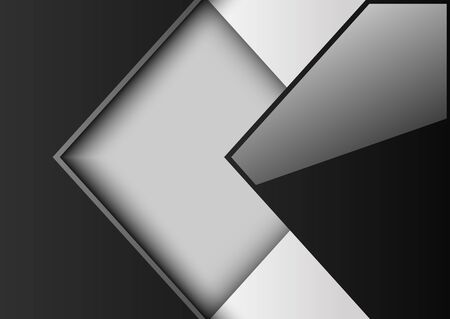 Résumé noir de fond et des carrés blancs, illustration vectorielle.