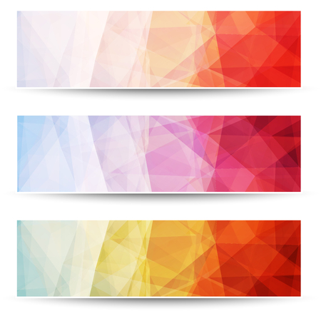 layered: Abstract layered triangle pattern banners, vector background design. Illustration