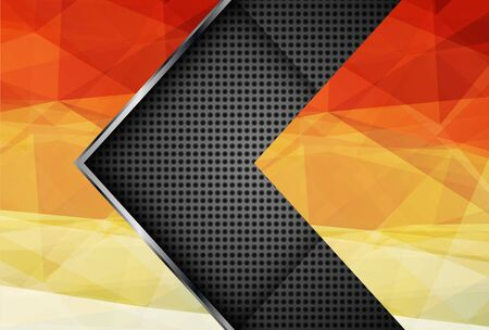 layer styles: Abstract background with layered triangle pattern, vector design. Illustration