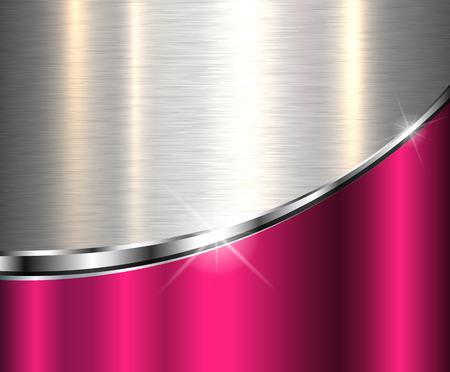 Élégant fond métallique, conception de vecteur.
