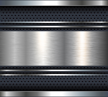 aluminum background: Background with aluminum metal plate bars, vector.