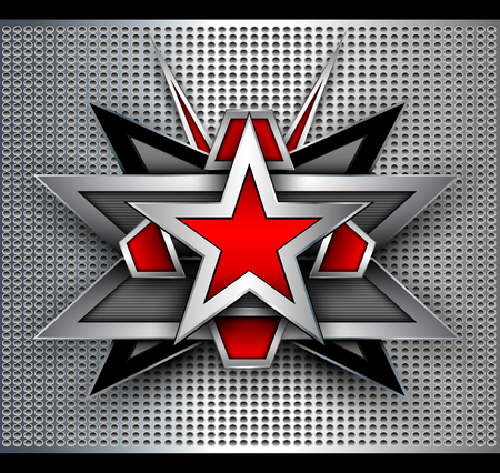 3d star: Abstract background with 3D star shape over dotted pattern.