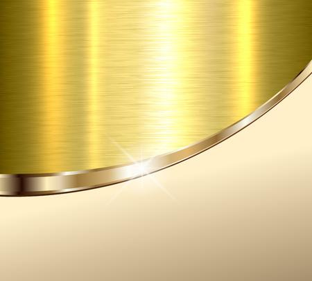 Achtergrond elegant beige en goud metalen structuur, vector illustratie.