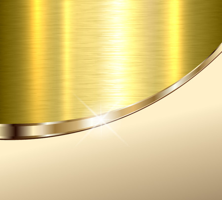 Background elegant beige and gold metal texture, vector illustration.