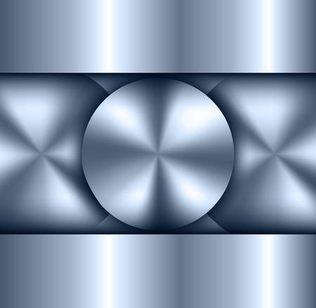 metallic background: Background metallic, circular metallic vector plate, metal texture. Illustration