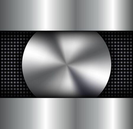 metallic background: Background metallic, circular metallic vector plate,silver  metal texture. Illustration