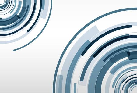 abstract circles: Abstract blue background, vector illustration.