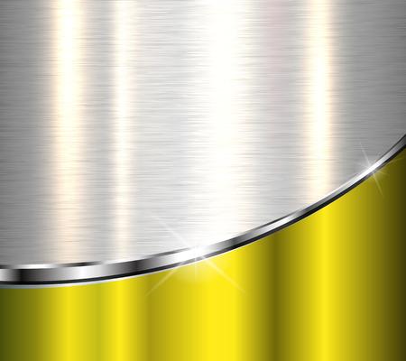cromo: Fondo metálico elegante, diseño del vector. Vectores