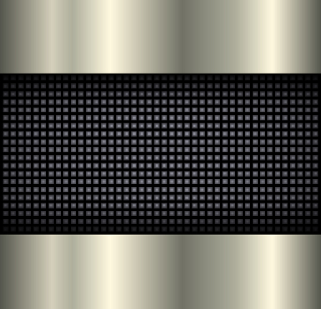 speaker grille: Background elegant metallic, 3D vector illustration