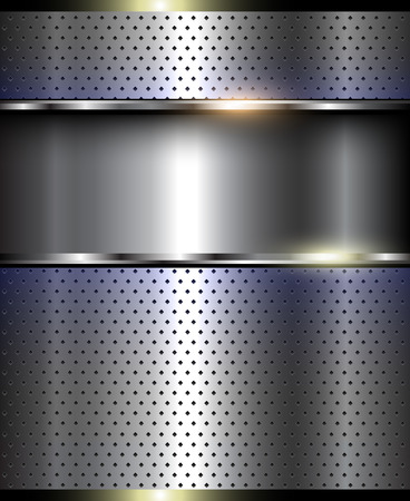 glister: Metallic 3D background, shiny vector illustration.