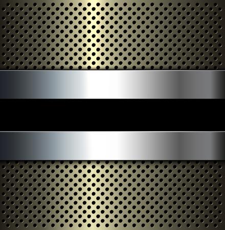 Metalen rooster achtergrond, 3D-vector illustratie.
