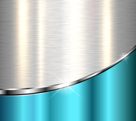 blue metallic background: Metallic background, elegant vector design. Illustration