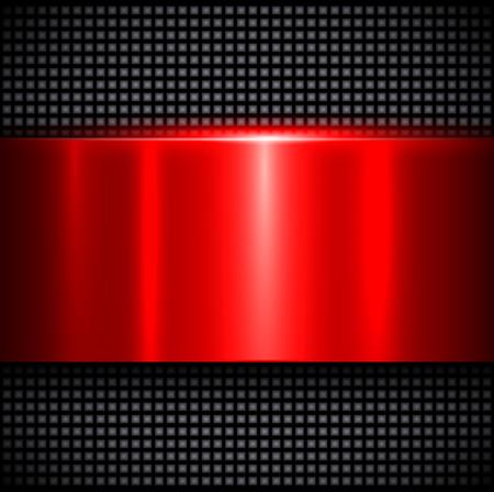 polished: Metal background, polished metallic red texture, vector illustration Illustration