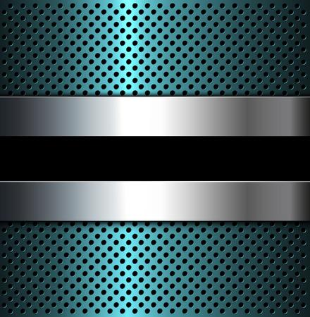 metal grid: Metal Grid background, 3D vector illustration. Illustration