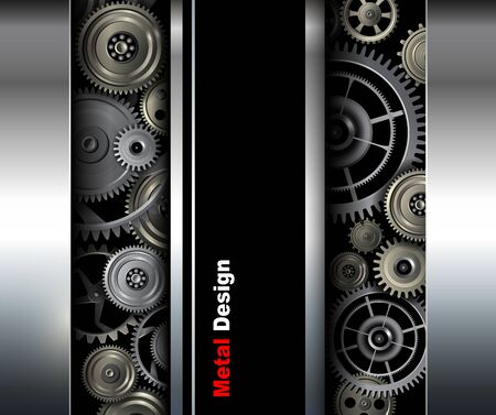 shiny metal background: Background metallic gears shiny metal design.