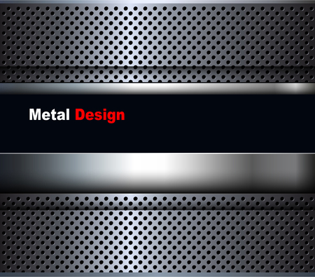 steel grille: Abstract 3D metallic black background