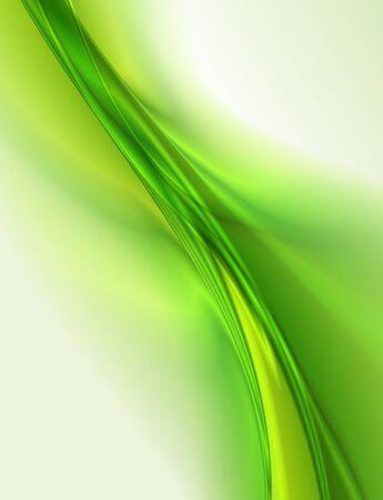 Resumen de fondo verde, ilustración ondulado