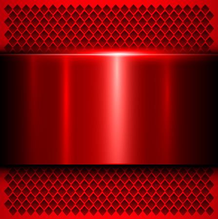 Metal background, polished metallic red texture illustration