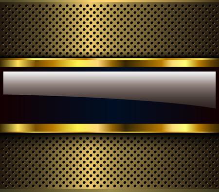Golden metallic background, 3D shiny vector design.