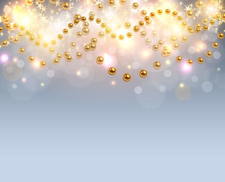 shinning light: Christmas background glittering lights, abstract vector illustration Illustration